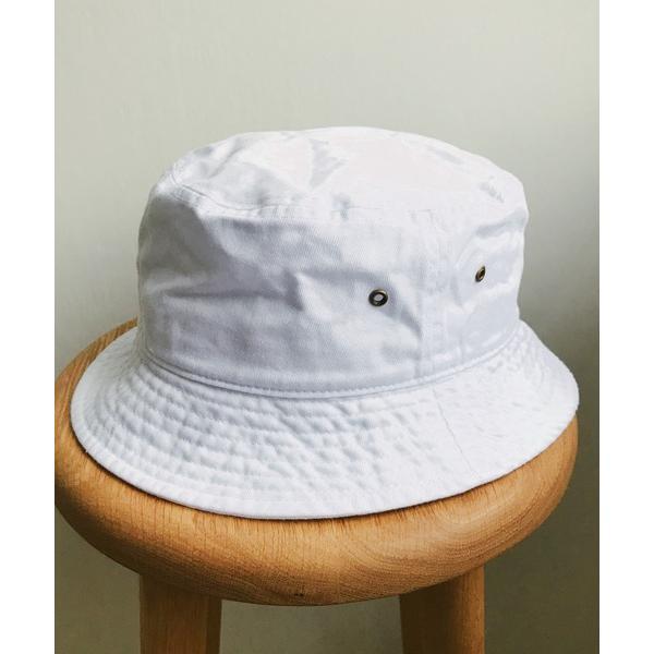 帽子ハットnewhattan/ウォッシュドコットンツイルバケットハット