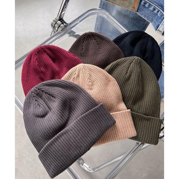 帽子キャップnewhattan(ニューハッタン)/2WAYコットンリブニットキャップ
