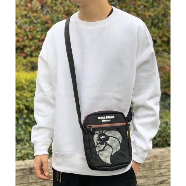 ショルダーバッグ バッグ 【NESTA BRAND】縦型 メッシュポケット ショルダーバッグ / ポーチ