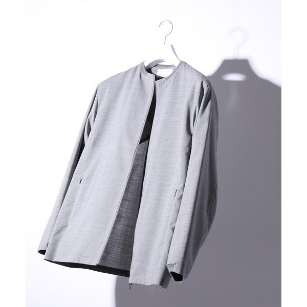 ジャケット ノーカラージャケット 【SOLOTEX】アーバナイズドジャケット