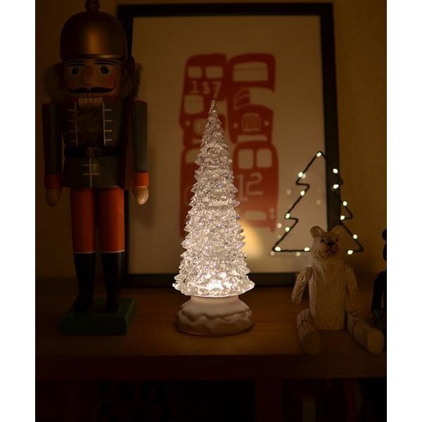 VIDA/LEDクリスタルウォーターツリー ホワイト 26.5cm