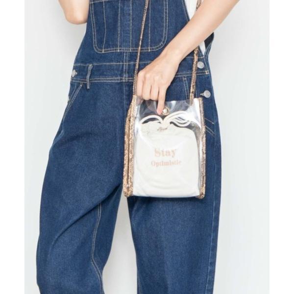 ショルダーバッグバッグWEGO/ WEB   2点セット コンビクリア巾着付きミニショルダーバッグ
