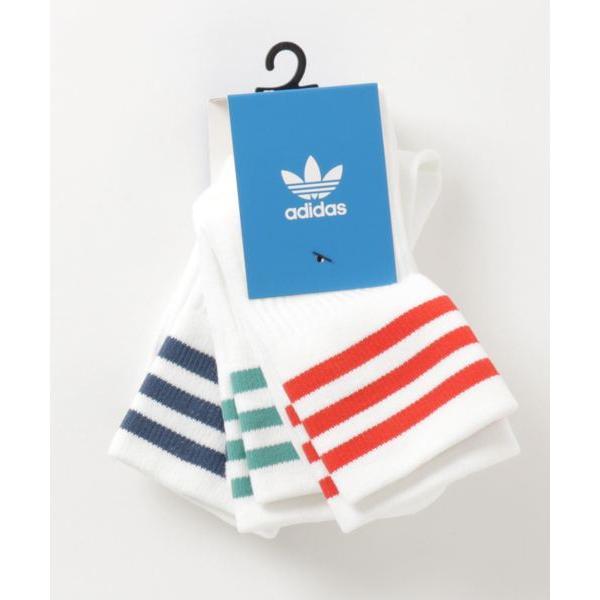 adidas アディダス FM0639 U MID CREW SOCKS 3P WHT/WHT/RED