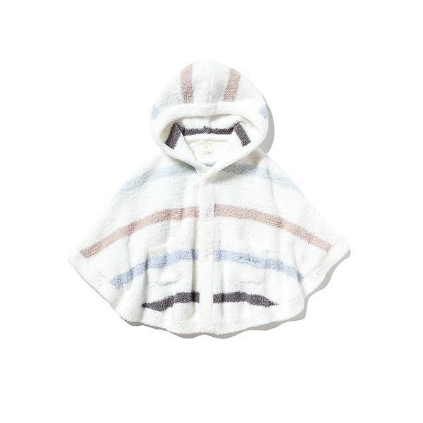 【BABY】'ベビモコ'マルチボーダー baby ポンチョ