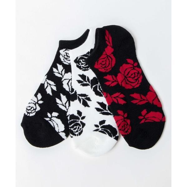 靴下WEGO/ 3点セット パターンショートソックス