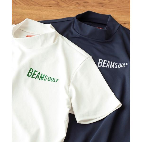 スウェットBEAMSGOLFORANGELABEL/スムースモックタートルネックシャツ