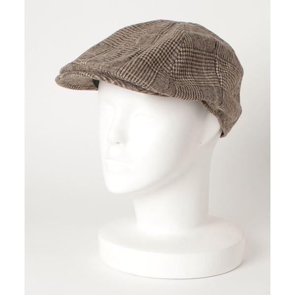 帽子キャスケットグレンチェックハンターキャスケット帽