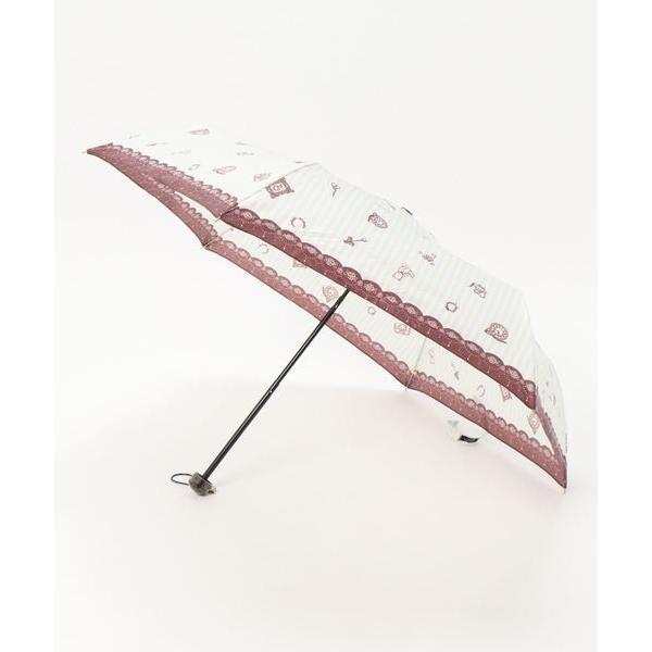 折りたたみ傘アンティークストライプ柄折りたたみ傘