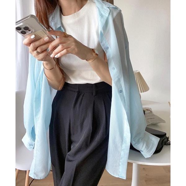 tシャツTシャツテレコリブクルーネックフレンチスリーブTシャツ