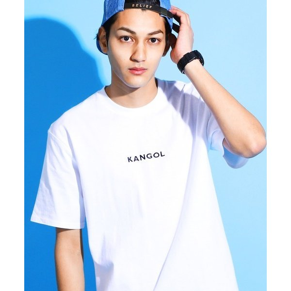 tシャツTシャツKANGOL別注コラボカンゴール半袖メンズ刺繍ロゴクルーネックTシャツ