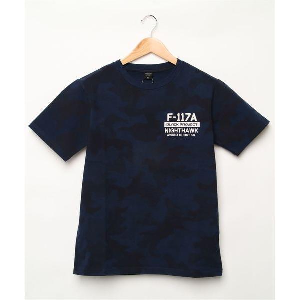 tシャツ Tシャツ AVIREX (アヴィレックス)刺繍Tシャツ ナイトミッション/ S/S EMBROIDERED T-SHIRT NIGHT MI