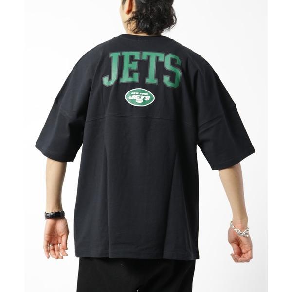 WEB限定 NFL 別注フットボールTシャツ JETS/ビッグサイズ