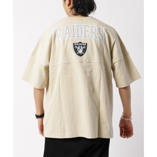 WEB限定 NFL 別注フットボールTシャツ RAIDERS/ビッグサイズ