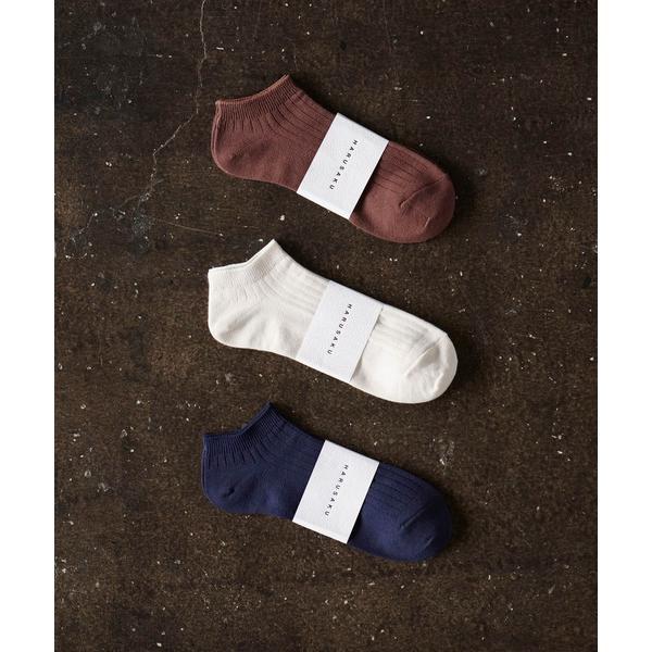 靴下HARUSAKUCC:Men'sRIBSneakersocks3Psetメンズリブスニーカーソックス3Pセット