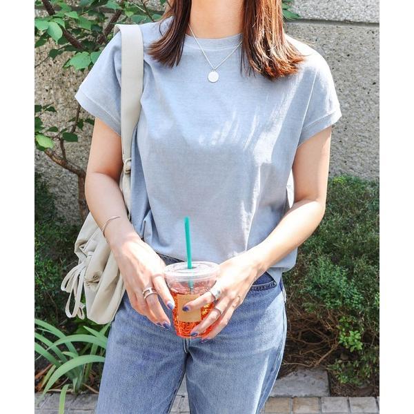 tシャツTシャツピグメント加工フレンチスリーブTシャツ