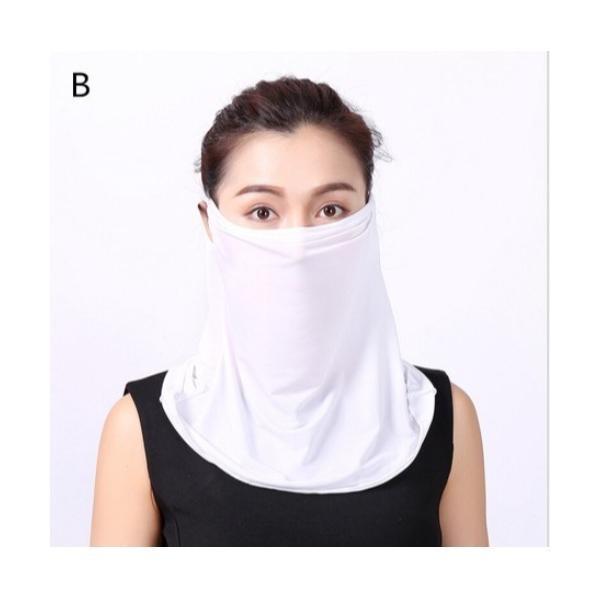 スカーフバンダナ繰り返し洗えるアイスシルク氷糸マスクスポーツランニング日焼け止めウイルスUV花粉対策掛耳マフラー