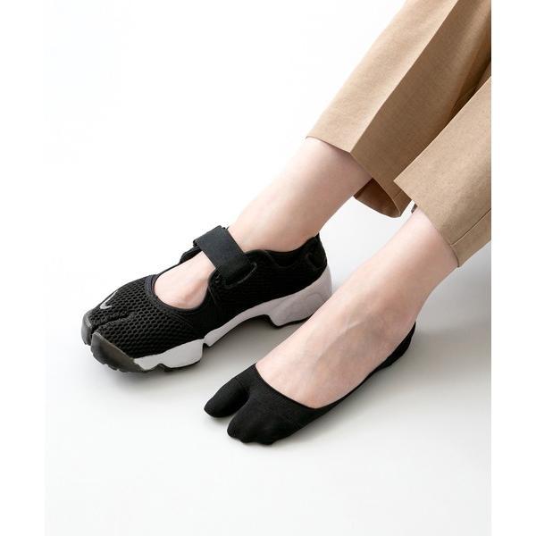 靴下かかとすべり止め付き浅め足袋フットカバー