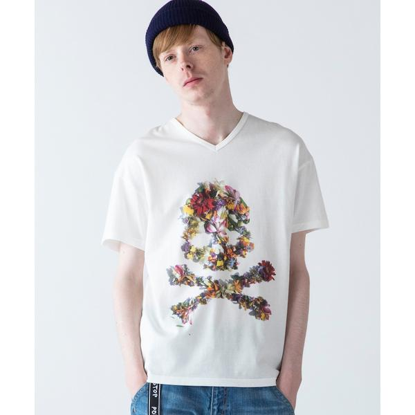 rehacer : Flower Skull Made in Japan / フラワー スカル Tシャツ メイドインジャパン