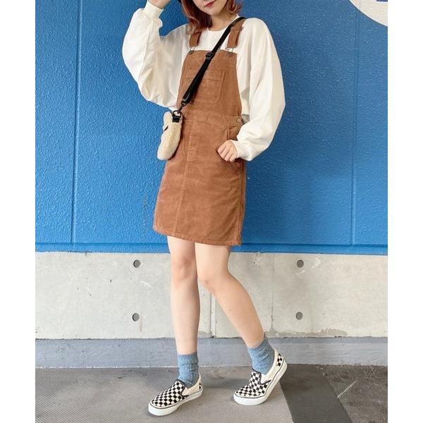 ワンピースジャンパースカートWEGO/コーデュロイジャンパースカート