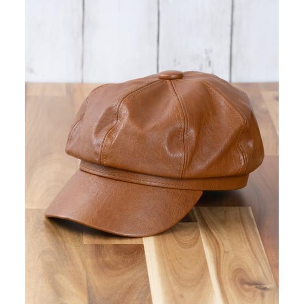 帽子キャスケットレザーキャスケット帽