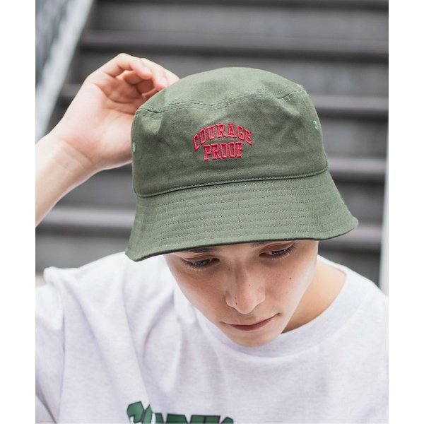 帽子ハットWEGO/ツイルロゴバケットハット