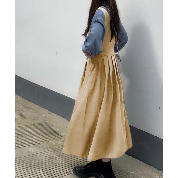 ワンピースジャンパースカートタックジャンパースカート