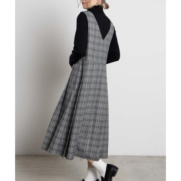 ワンピースWEGO/プリーツロングジャンパースカート