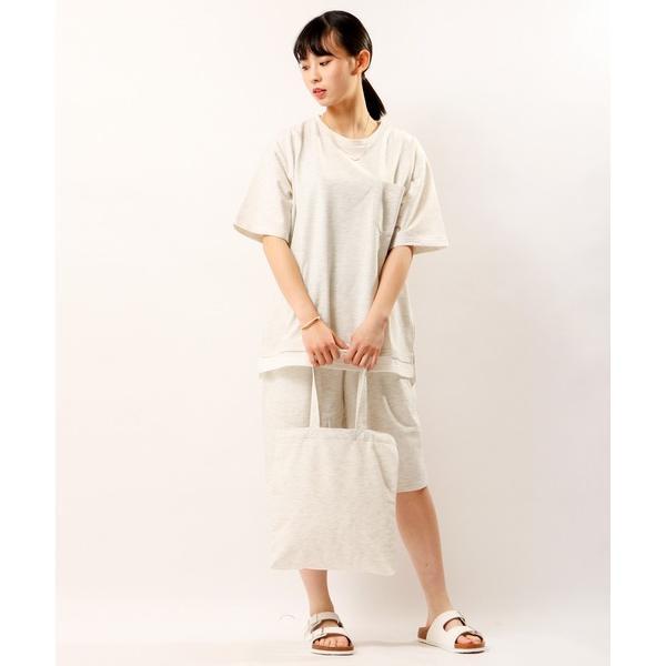 ルームウェアパジャマ POWERTOTHEPEOPLE Tシャツ/ハーフパンツ/トートバッグセットアップ3点セット