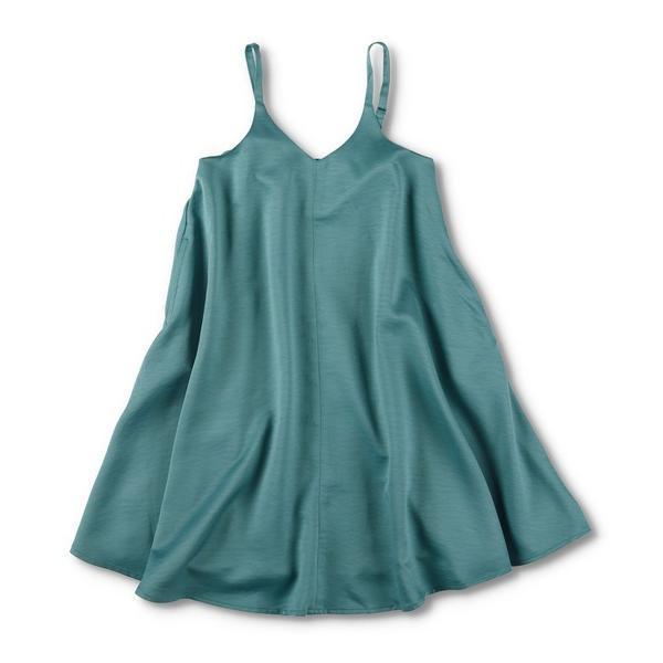 ワンピースジャンパースカート WEB  サテンジャンパースカート