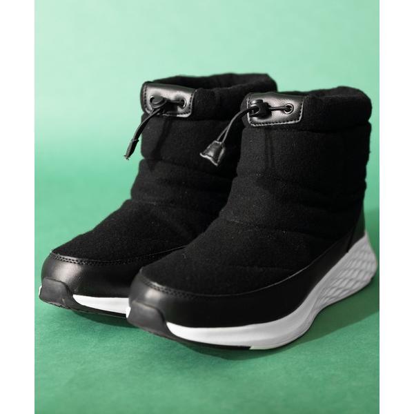 ブーツ防水ブーツウールライク厚底スニーカー