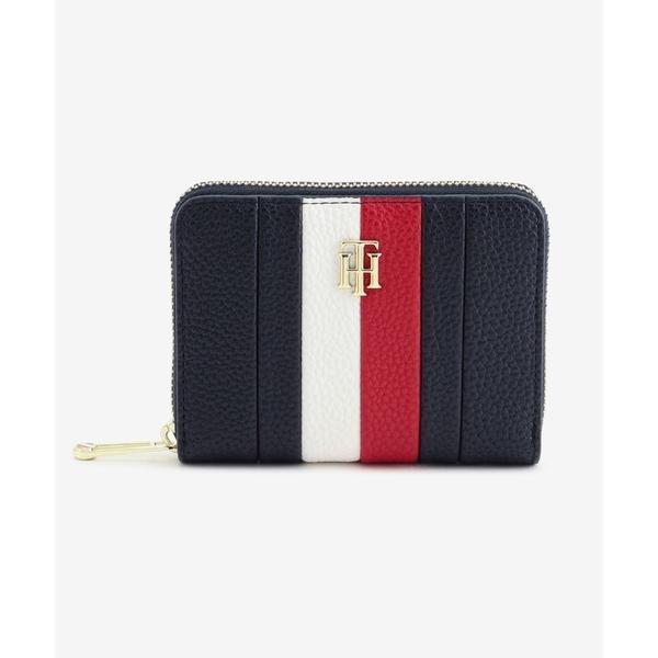 財布カラーブロックジップウォレット
