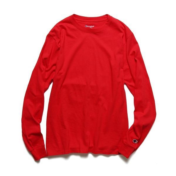 tシャツTシャツ ChampionAuthenticT-SHIRTS レディースチャンピオンビッグシルエット無地長袖Tシャツ