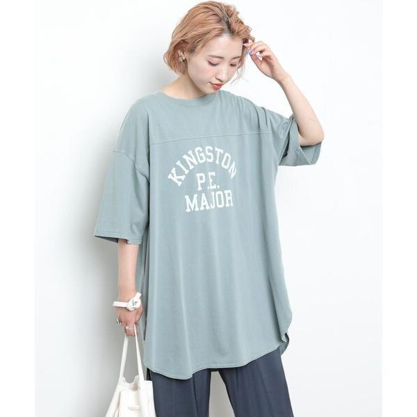 tシャツTシャツ▽ WEB  PENNEYS/ペニーズ別注ピグメントフットボールTシャツ(ロゴTシャツ)