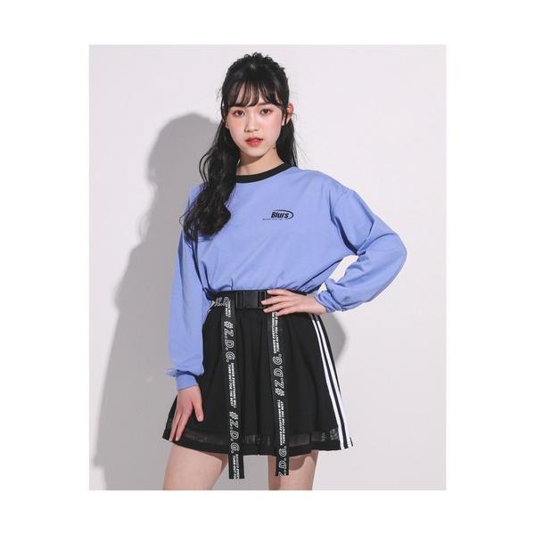 スカートZIDDY/ 店舗 別注 メッシュ切り替えバックロゴスカートパンツ