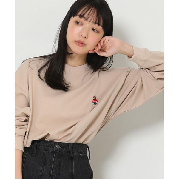 tシャツTシャツスケートベアロゴビッグシルエットロングスリーブTシャツ(ビッグシルエットトップス)