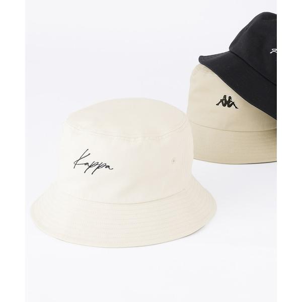 帽子ハットKappa/カッパ別注ワンロゴ刺繍ツイルバケットハット