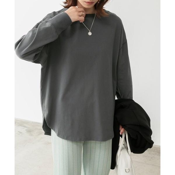 tシャツTシャツオーバーサイズラウンドヘムTシャツ