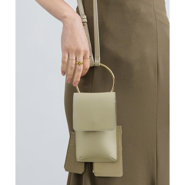 ショルダーバッグバッグ 取り外し   異素材 モバイルケース/パスケース定期入れ/キーケース組み合わせショルダーバッグ