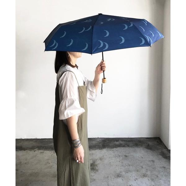折りたたみ傘ALCEDO:折りたたみ傘moon総柄UVカット