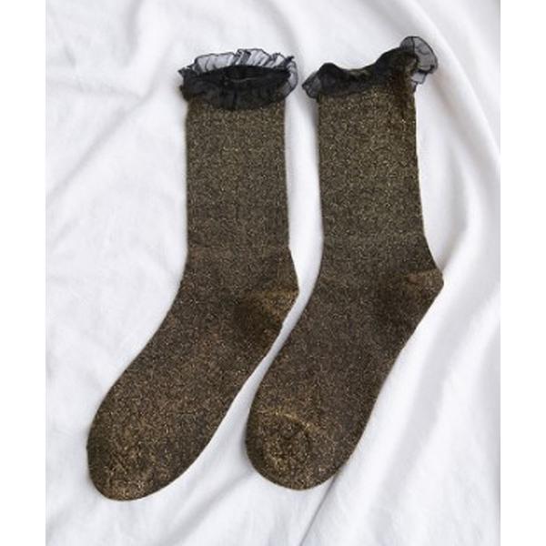 靴下シアーフリルソックス