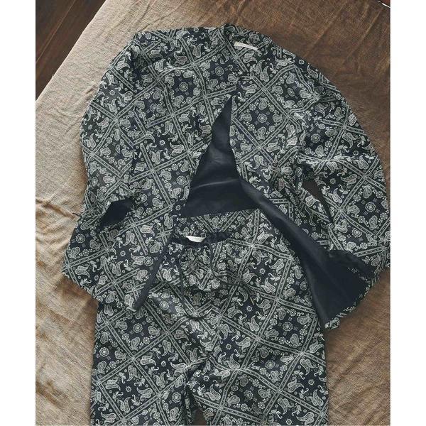 ルームウェアパジャマ シャツ+パンツ+巾着袋3点セット 春夏部屋着/ワンマイルセットアップ/オーバーサイズ/バンドカラーシャツ/