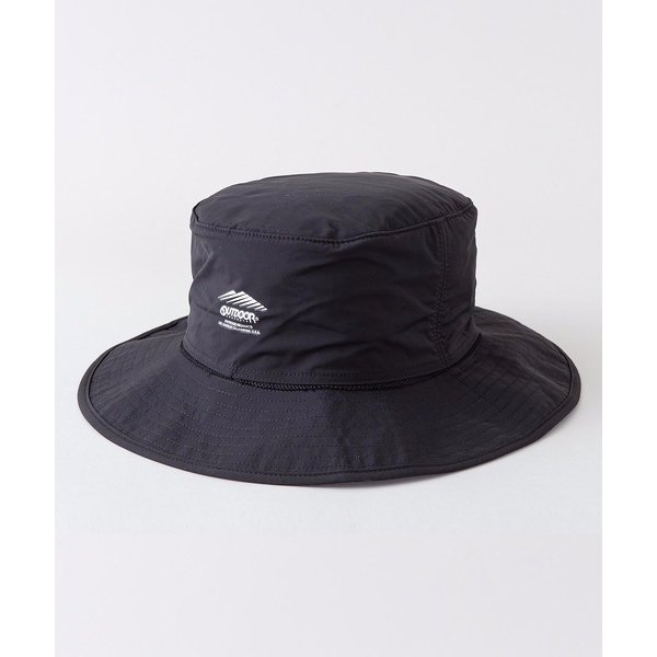 帽子ハット OUTDOORPRODUCTS 撥水日よけ付きアドベンチャーハットワンブランドロゴ