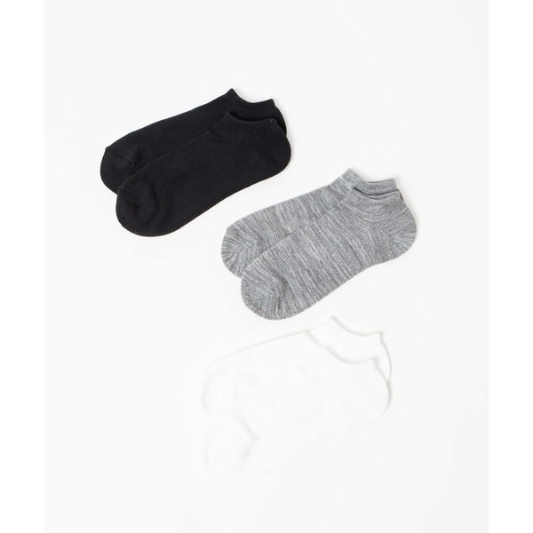 靴下WEGO/ 3点セット 無地スニーカーショートソックス