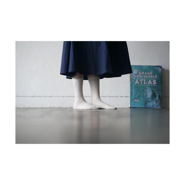 靴下 ALCEDO 花柄月柄フラワームーンソックス