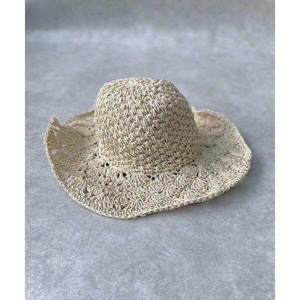 帽子ハット かぎ編みペーパーハット