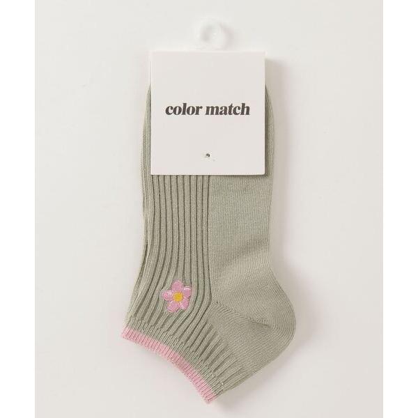靴下WEGO/フラワー刺繍ショートソックス