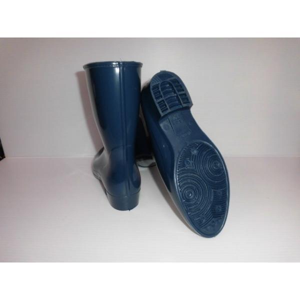 丈夫な日本製の長靴  アキレス カレン 310 ( ニューレディー31 ) 鉄紺 レインシューズ