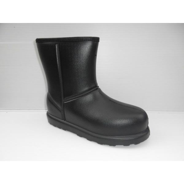 完全防水  超軽量 かるぬくムートン N3512 黒 レディース ショートブーツ