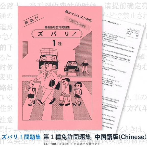 第一種免許問題集 翻訳中国語版 zubarimondai
