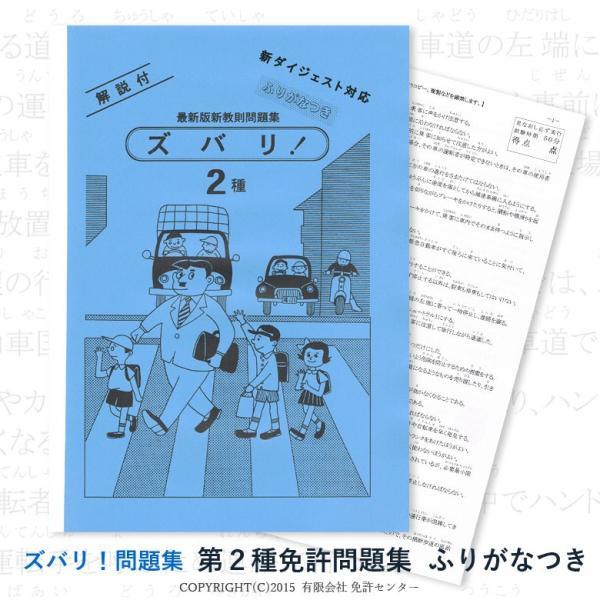 第二種免許問題集 ふりがなつき|zubarimondai